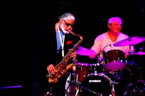 Jazz drummer Joe Corsello with Kennedy Center Honoree Saxophonist Sonny Rollins